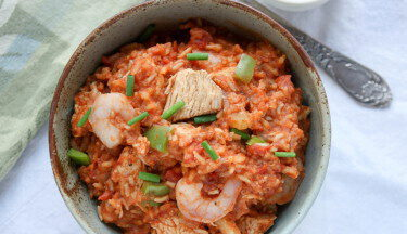 slow cooker turkey shrimp jambalaya