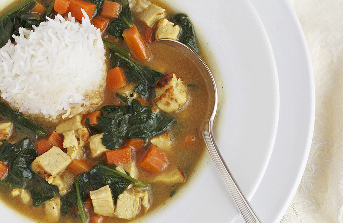 curry turkey soup with rice