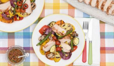grilled-turkey-summer-vegetable-salad