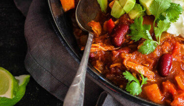 Slow Cooker Turkey Chili TT
