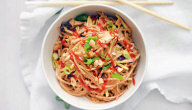 Spicy Peanut Noodles with Turkey