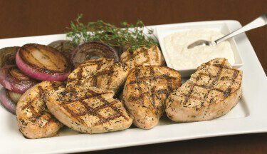Picture of Turkey Steaks w/ Horseradish Cream & Grilled Onion