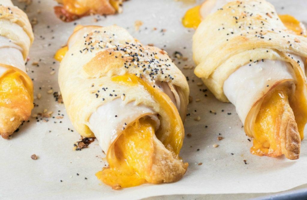 Everything Bagel Turkey Cheddar Crescent Rolls